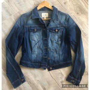 ❄️ Jessica Simpson cropped jean jacket